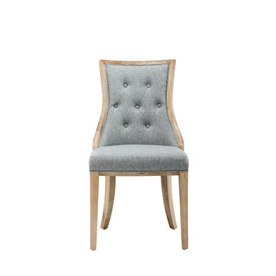 Lizete Upholstered Dining Chair Upholstery Color: Gray