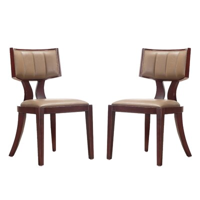 Regency Upholstered Dining Chair Upholstery: Mocha