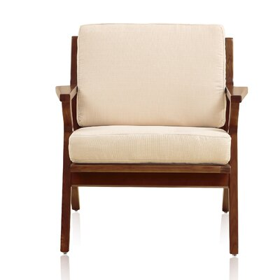 Mae Leisure Armchair Upholstery: Cream