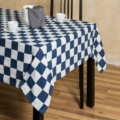 Checker Board Rectangular Cotton Tablecloth 60102-054978