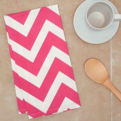 Chevron Kitchen Towel Color: Fuchsia/White