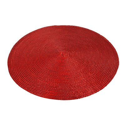 Andrews Metallic Placemat Color: Red