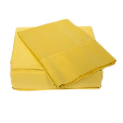 300 Thread Count Sheet Set Size: Queen, Color: Pastel Yellow