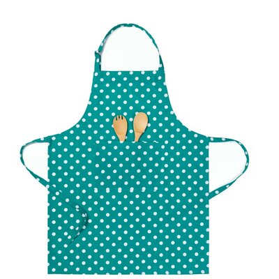 Polka Dot Chef Apron Color: Teal