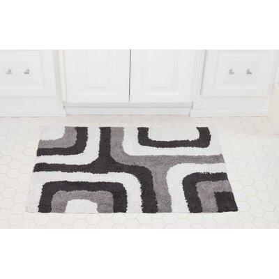 Cubical Maze Cotton Bath Mat Color: Charcoal / Gray