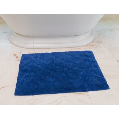 Foliage Cotton Bath Mat Color: Royal Blue