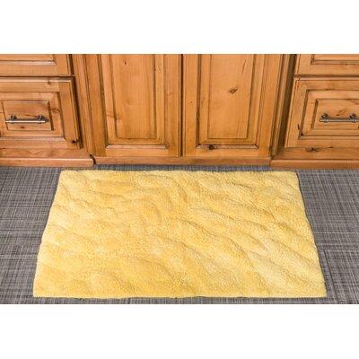 Foliage Cotton Bath Mat Color: Yellow
