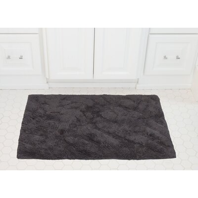 Foliage Cotton Bath Mat Color: Charcoal