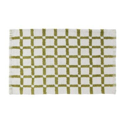 Grid Reversible Cotton Bath Mat Color: Lime