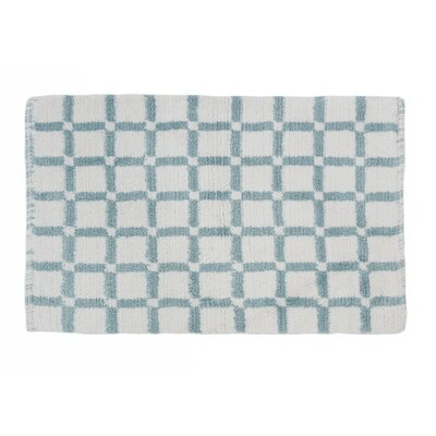 Grid Reversible Cotton Bath Mat Color: Baby Blue