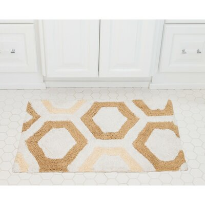 Honeycomb Cotton Bath Mat Color: Beige / Cream