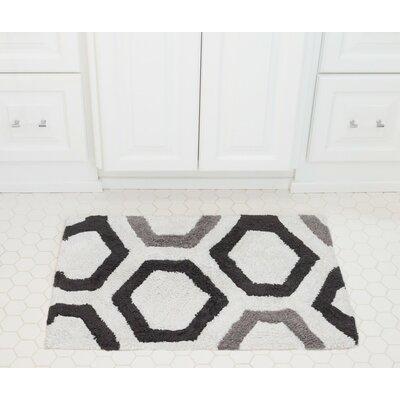 Honeycomb Cotton Bath Mat Color: Charcoal / Gray