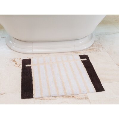 Notebook Cotton Bath Mat Color: Coffee / Cream
