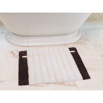 Notebook Cotton Bath Mat Color: Coffee / Cream