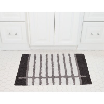 Notebook Cotton Bath Mat Color: Charcoal / Gray