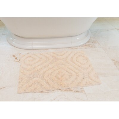 Swirls Cotton Bath Mat Color: Cream