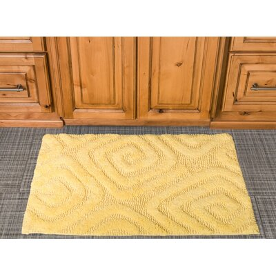 Swirls Cotton Bath Mat Color: Yellow