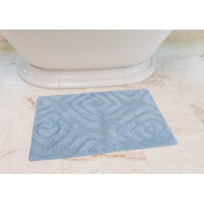 Swirls Cotton Bath Mat Color: Baby Blue