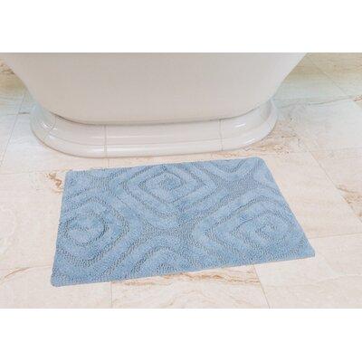 Swirls Cotton Bath Mat Color: Baby Blue