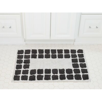 Tiles Cotton Bath Mat Color: Charcoal