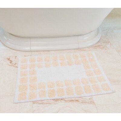 Tiles Cotton Bath Mat Color: Cream