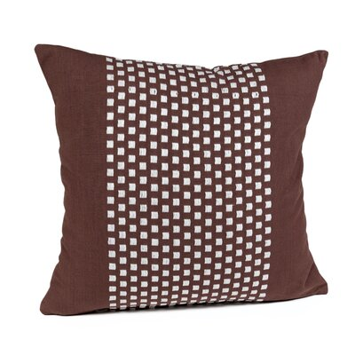 Broncho Stripe Cotton Pillow Cover Color: Chocolate