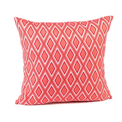 Heidrick Print Cotton Pillow Cover Color: Coral