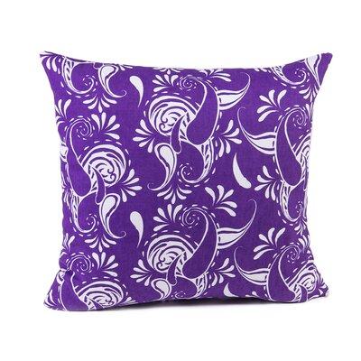 Klassen Indoor/Outdoor 100% Cotton Pillow Cover Color: Purple/White