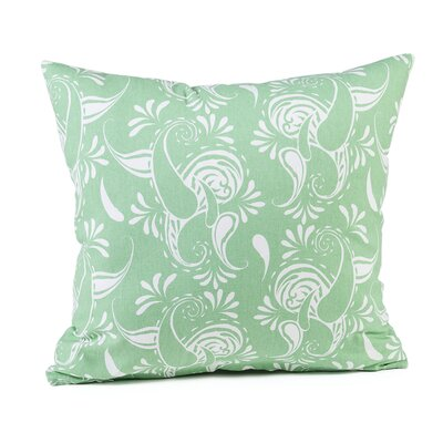 Tamia Cotton Pillow Cover Color: Hemlock/White