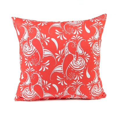 Tamia Cotton Pillow Cover Color: Coral/White