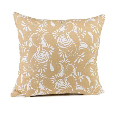 Broncho Stripe Cotton Pillow Cover Color: Latte