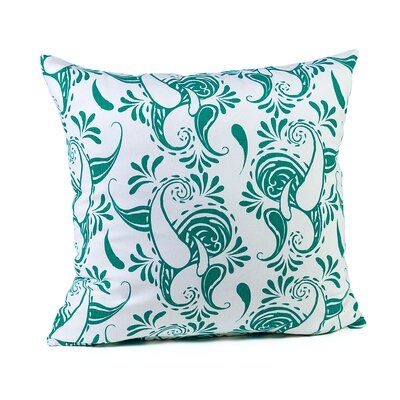 Tamia Cotton Pillow Cover Color: White/Teal