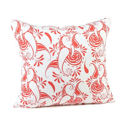 Tamia Cotton Pillow Cover Color: White/Coral