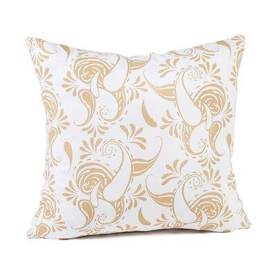 Tamia Cotton Pillow Cover Color: White/Latte