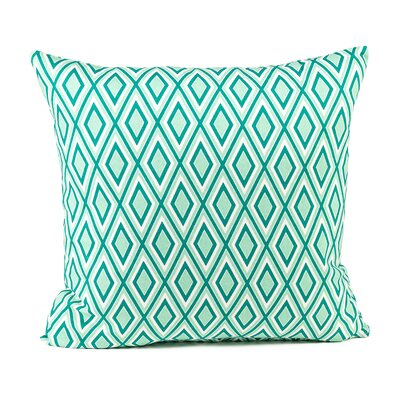 Heidrick Print Cotton Pillow Cover Color: Teal