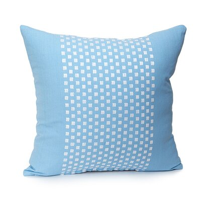 Broncho Stripe Cotton Pillow Cover Color: Baby Blue