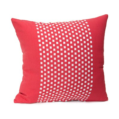 Broncho Stripe Cotton Pillow Cover Color: Red