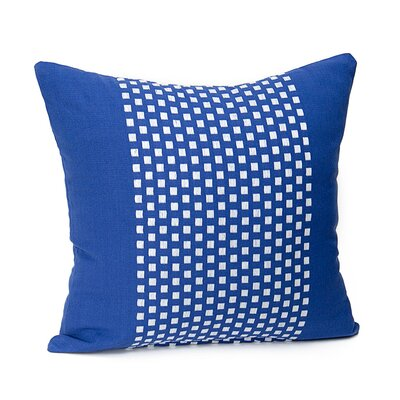 Broncho Stripe Cotton Pillow Cover Color: Royal Blue