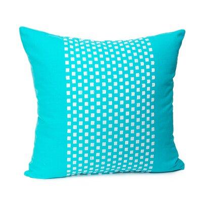 Broncho Stripe Cotton Pillow Cover Color: Caribbean