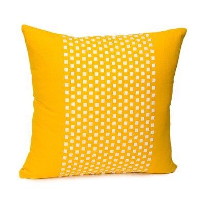 Broncho Stripe Cotton Pillow Cover Color: Mustard Yellow