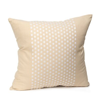 Broncho Stripe Cotton Pillow Cover Color: Beige
