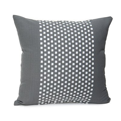 Broncho Stripe Cotton Pillow Cover Color: Charcoal