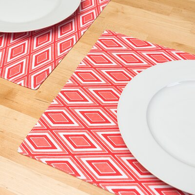 Heidrick Print Placemat Color: Coral