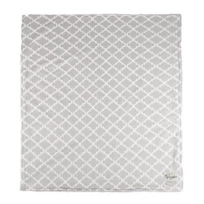 Moroccan Mini Tile Throw Blanket Color: Gray