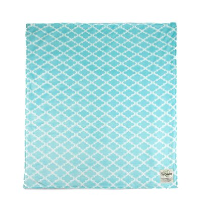 Moroccan Mini Tile Throw Blanket Color: Light Blue