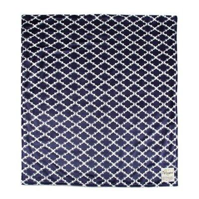 Moroccan Mini Tile Throw Blanket Color: Navy