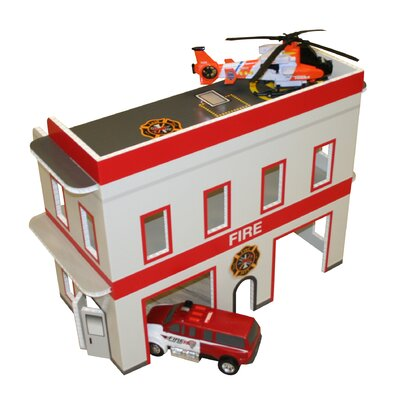 Fire Station Dollhouse FD0019B
