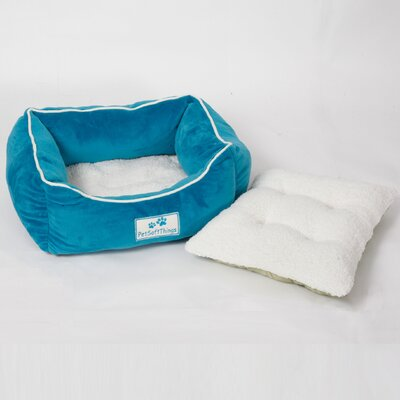 Flannel Pet Bed with Removable Pillows Color: Blue Surf