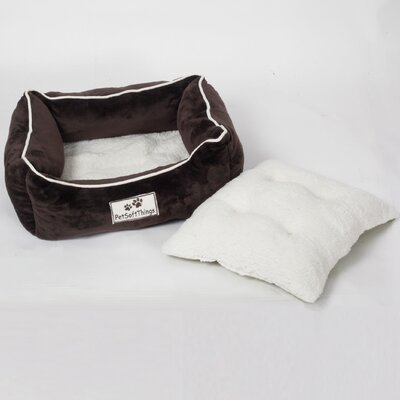 Flannel Pet Bed with Removable Pillows Color: Chocolate