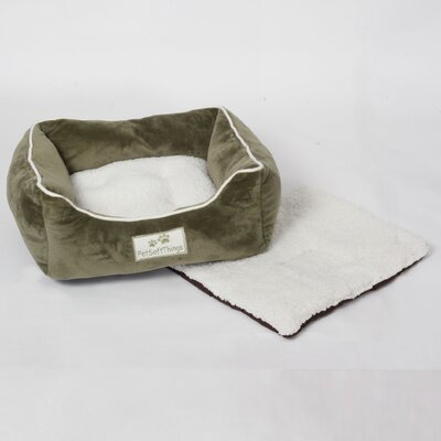 Flannel Pet Bed with Removable Pillows Color: Slate Green